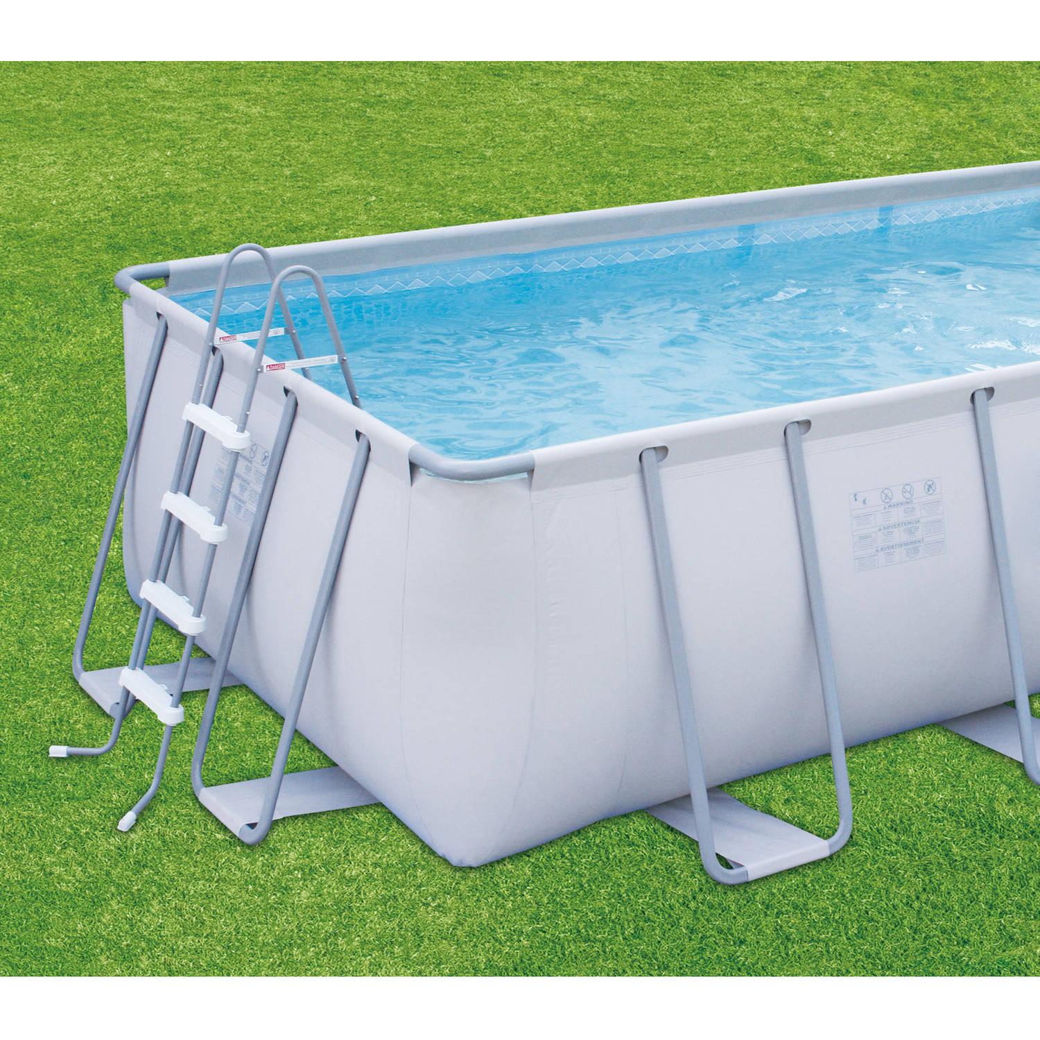 "Rectangle Pool summer waves elite 18' x 9' x 48"" rectangular premium metal frame"