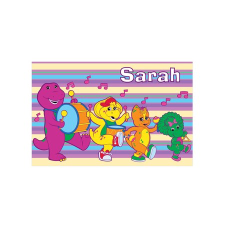 - Personalized Barney & Friends Band Placemat