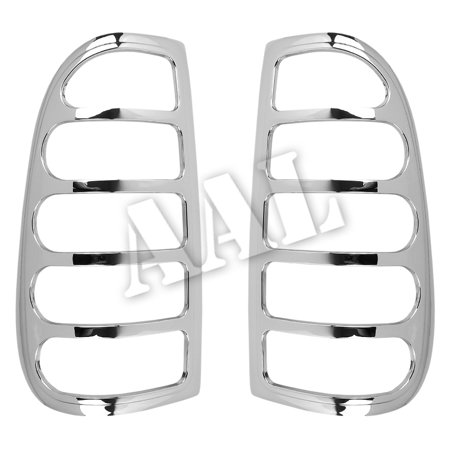 AAL Premium Chrome LIGHTS BEZEL Cover For 1997 1997 1998 1999 2000 2001 2002 2003 FORD F150 F-150 TAIL LIGHT - Tail Light Bezel Set