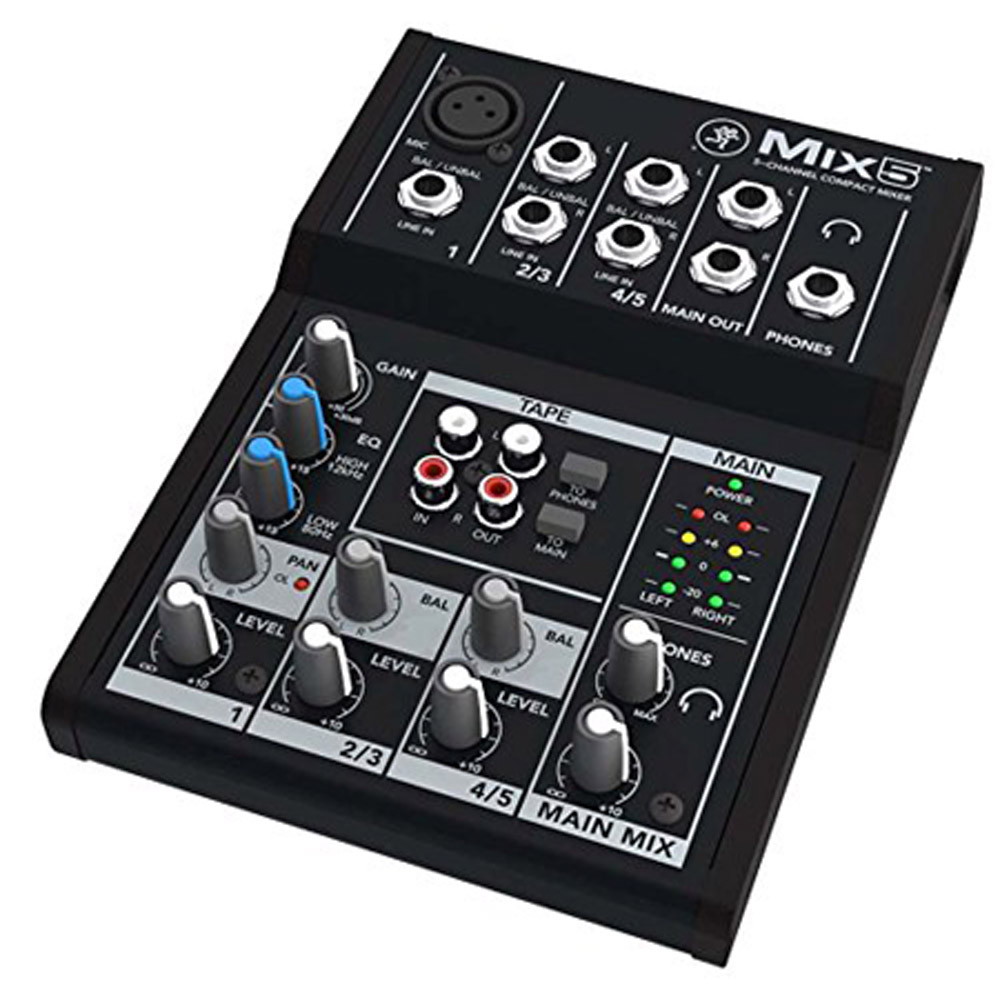 Mackie Mix5 5-Channel Compact Analog Mixer by Mackie