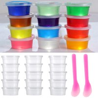 Tuscom Slime Storage Containers Foam Ball Storage Containers With Lids+Mixing Spoons