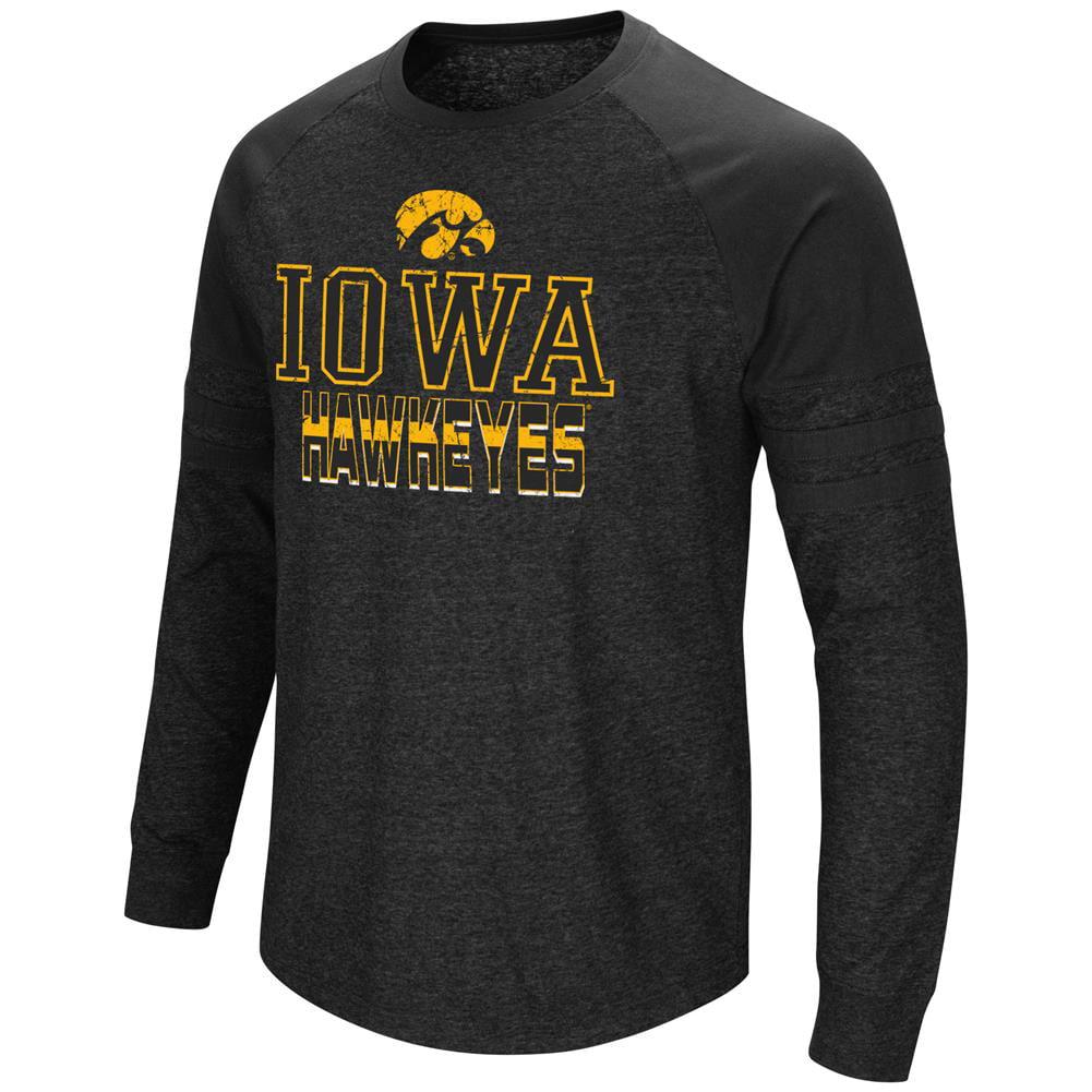 University of Iowa Hawkeyes Long Sleeve Shirt Hybrid Raglan Tee