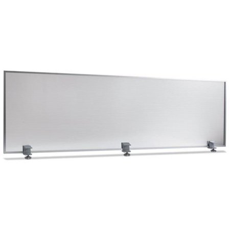 Image of Alera PP6518 Polycarbonate Privacy Panel, 65w x 18h, Silver