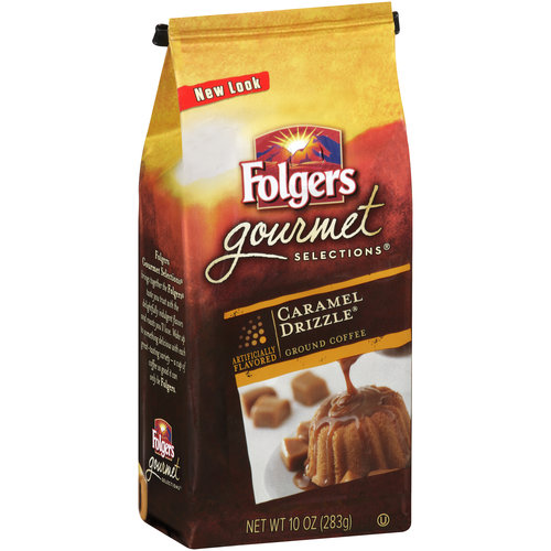 Folgers Gourmet Selections Caramel Drizzle Ground Coffee, 10 oz
