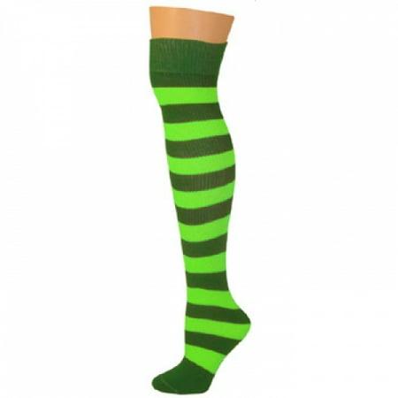 Green Striped Socks (Striped Socks - Kelly/Lime)