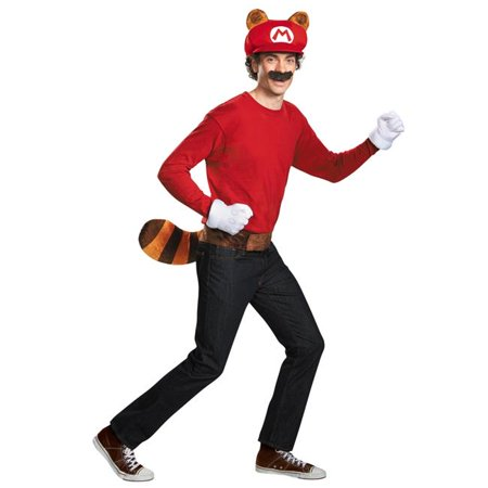 Morris Costumes DG98840AD Mario Raccoon Adult Costume Kit
