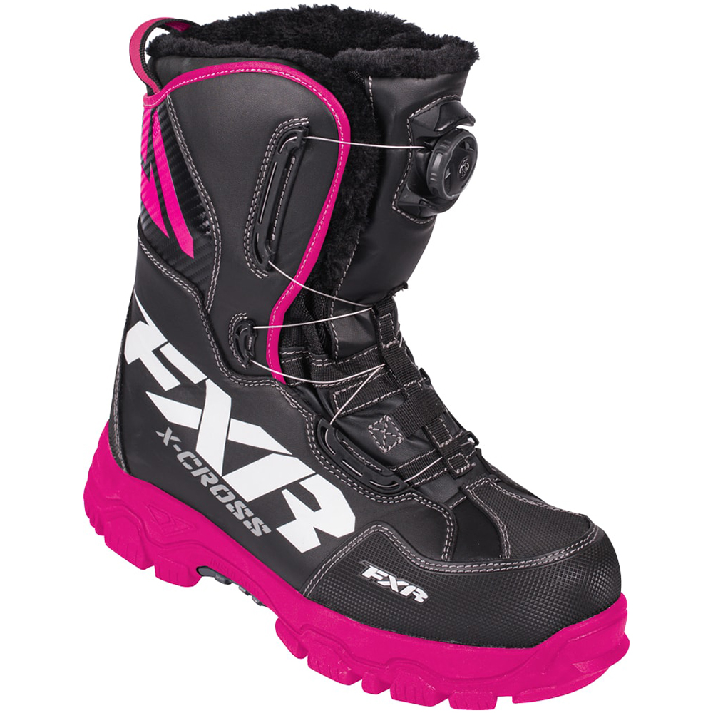 FXR X-Cross BOA Boot Authentic High Traction Fixed Liner Toe Kick Snowmobile