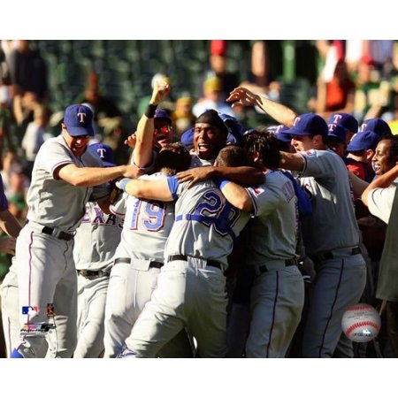 The Texas Rangers Celebrate winning the 2010 AL West Divison Photo Print
