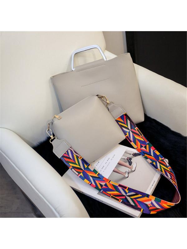2PCS Women Shoulder Bag Messenger Handbag Crossbody Satchel Tote Purse