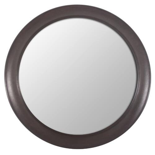 Decor Therapy Woodgrain Round Wall Mirror