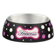 Loving Pets Milano Medium Dog Bowl, Princess Polka Dot