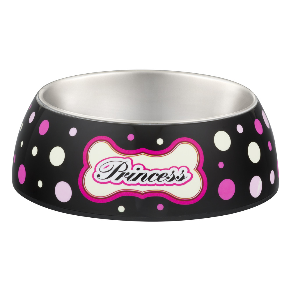Loving Pets Milano Medium Dog Bowl, Princess Polka Dot