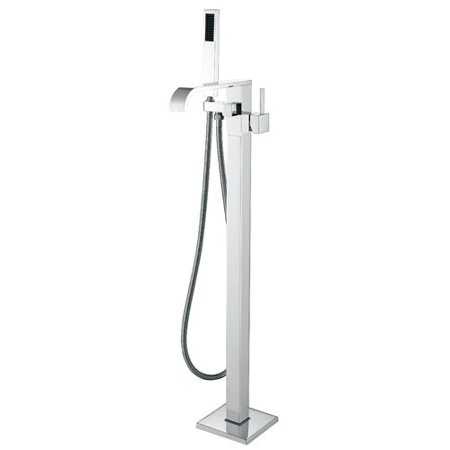 Anzzi Angel Double Handle Floor Mounted Clawfoot Tub Faucet With