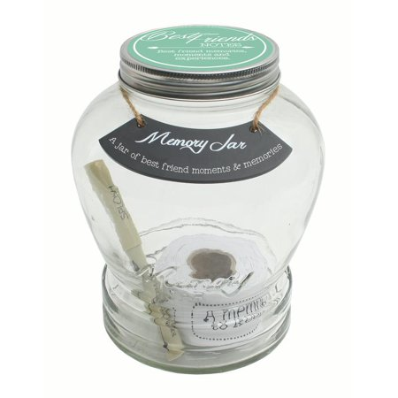 Top Shelf Best Friends Memory Jar ; Unique Keepsakes for Men and Women ; Thoughtful Gift Ideas for Birthdays and Christmas ; Kit Comes with 180 Tickets and Decorative Lid
