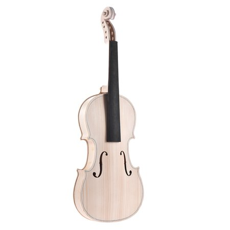 DIY 4/4 Full Size Natural Solid Wood Acoustic Violin Fiddle Kit Spruce Top Maple Back Neck Ebony Wood Fingerboard Accessory