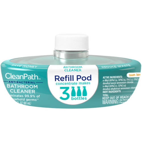 CleanPath Sun Lemon Antibacterial Bathroom Cleaner Refill Pod, 3 fl oz