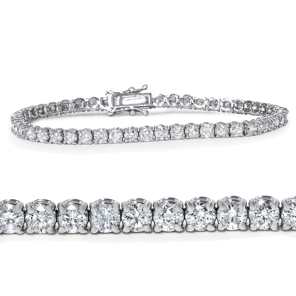 "4ct Diamond Tennis Bracelet 14K White Gold 7"" by Pompeii3"