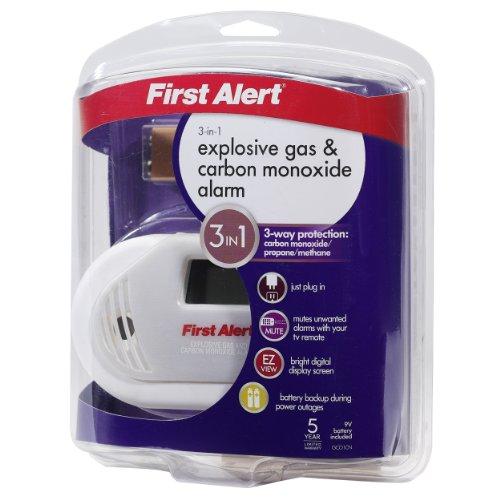 First Alert GCO1CN Plug In Combination Explosive Gas/Carbon Monoxide Alarm with Battery Backup
