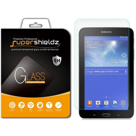 [1-Pack] Samsung Galaxy Tab 3 Lite 7.0 Tempered Glass Screen Protector, Supershieldz Anti-Scratch, Anti-Fingerprint, Bubble Free ()