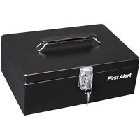 First Alert 3020F Locking Steel Cash Box, Black
