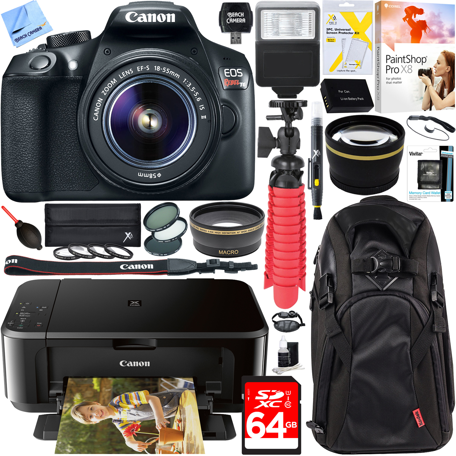 Canon EOS Rebel T6 Digital SLR Camera with EF-S 18-55mm IS
