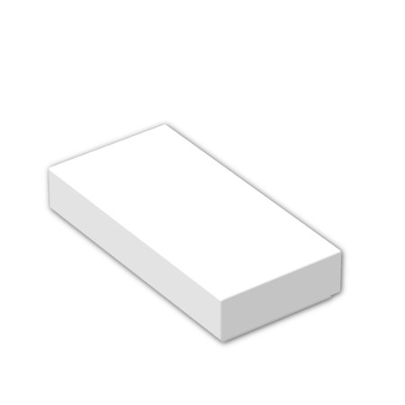 Brick Building Sets Original LEGO® Parts: Tile 1 x 2 with Groove #3069B (Pack of 24) (White)