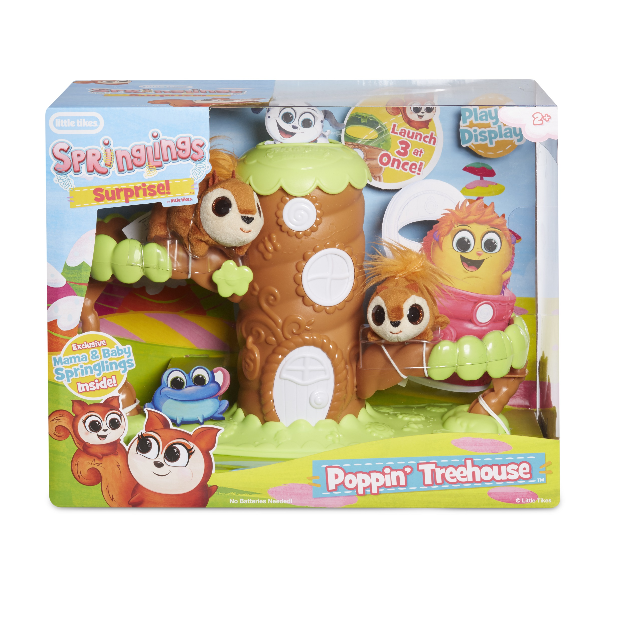 Little Tikes Springlings Surprise Poppin' Treehouse Set with Two Plush Pets