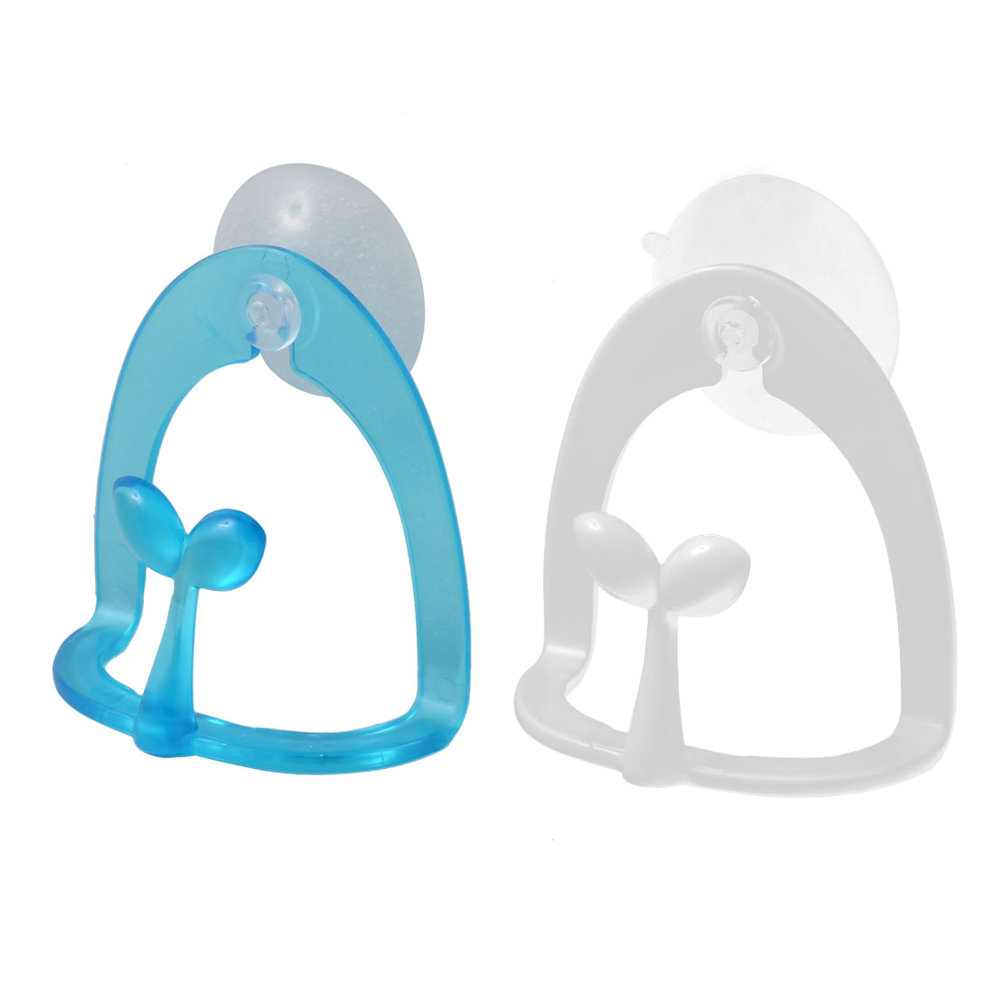 Uxcell Sprout Design Wall Mounted Towel Soap Sponge Holder 2PCS w Suction Cup