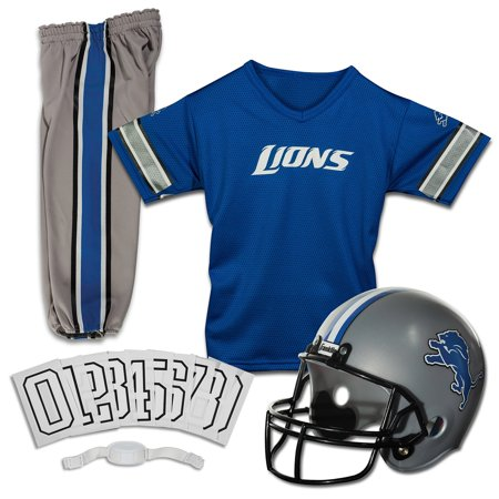 Franklin Sports NFL Youth Deluxe Uniform/Costume Football Set (Choose Team and Size) Detroit Lions Youth Uniform