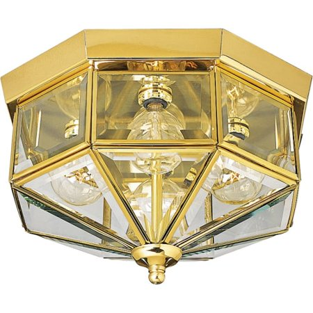Progress Lighting P5789 4 Light Flush Mount Outdoor Ceiling Fixture ...