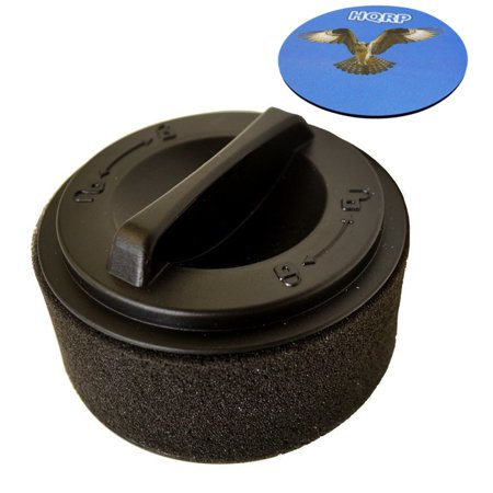 Compact Filter Case - HQRP Inner & Outer Circular Filter for Bissell PowerForce Compact 23T7V; 23T75, 23T76, 23T78 Vacuum Cleaner + HQRP Coaster