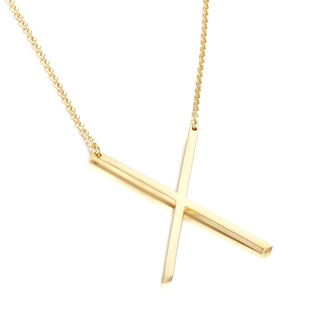 Name Necklace,Coxeer Golden Alphabet Necklace from A to Z Simple Long Necklace Couple Gift for Women Men Girls Boys