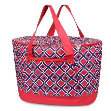 Zodaca Fashionable Large Insulated Cooler Tote Carry Box Food Storage Bag for Camping Beach Travel ()