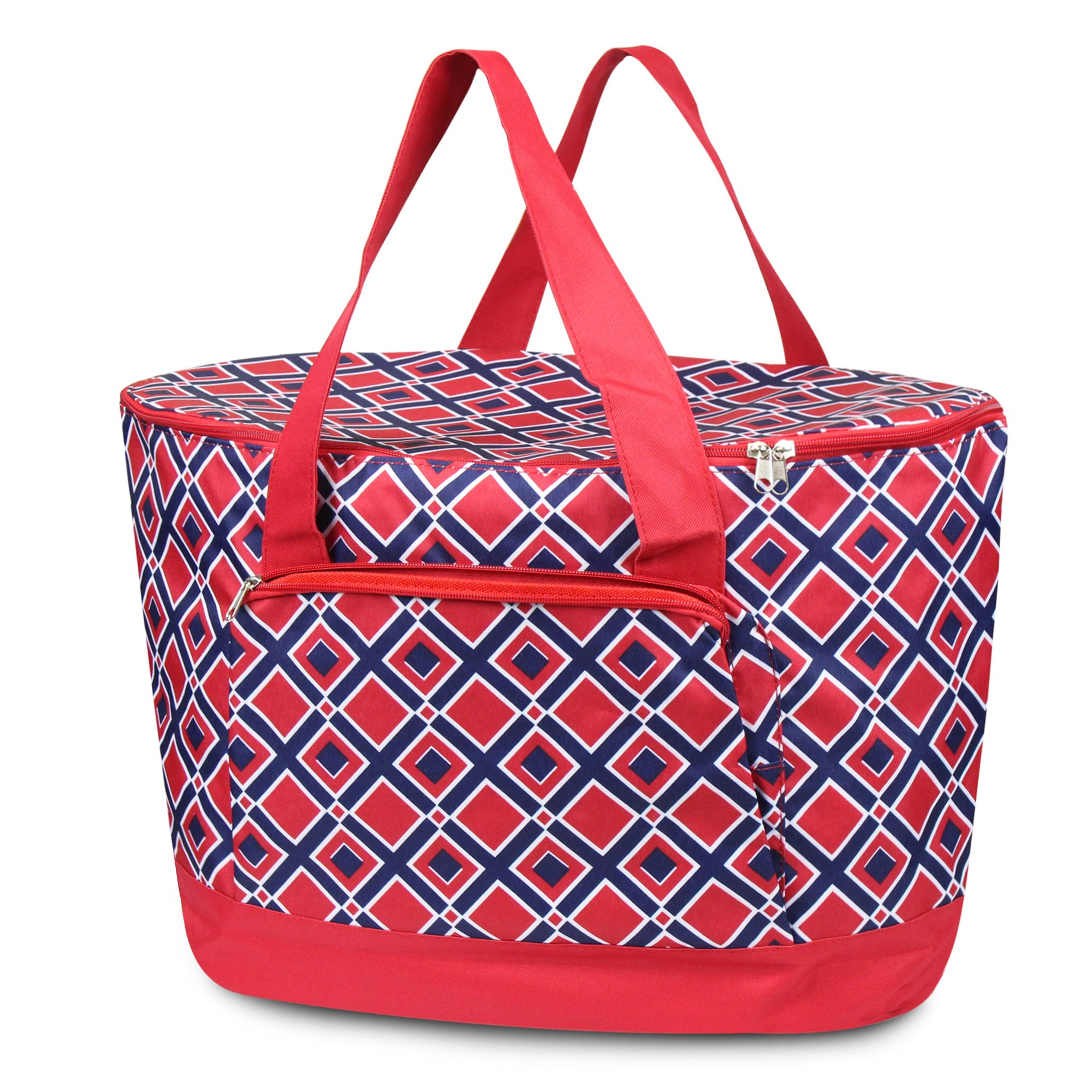 Zodaca Fashionable Large Insulated Cooler Tote Carry Box Food Storage Bag for Camping Beach Travel