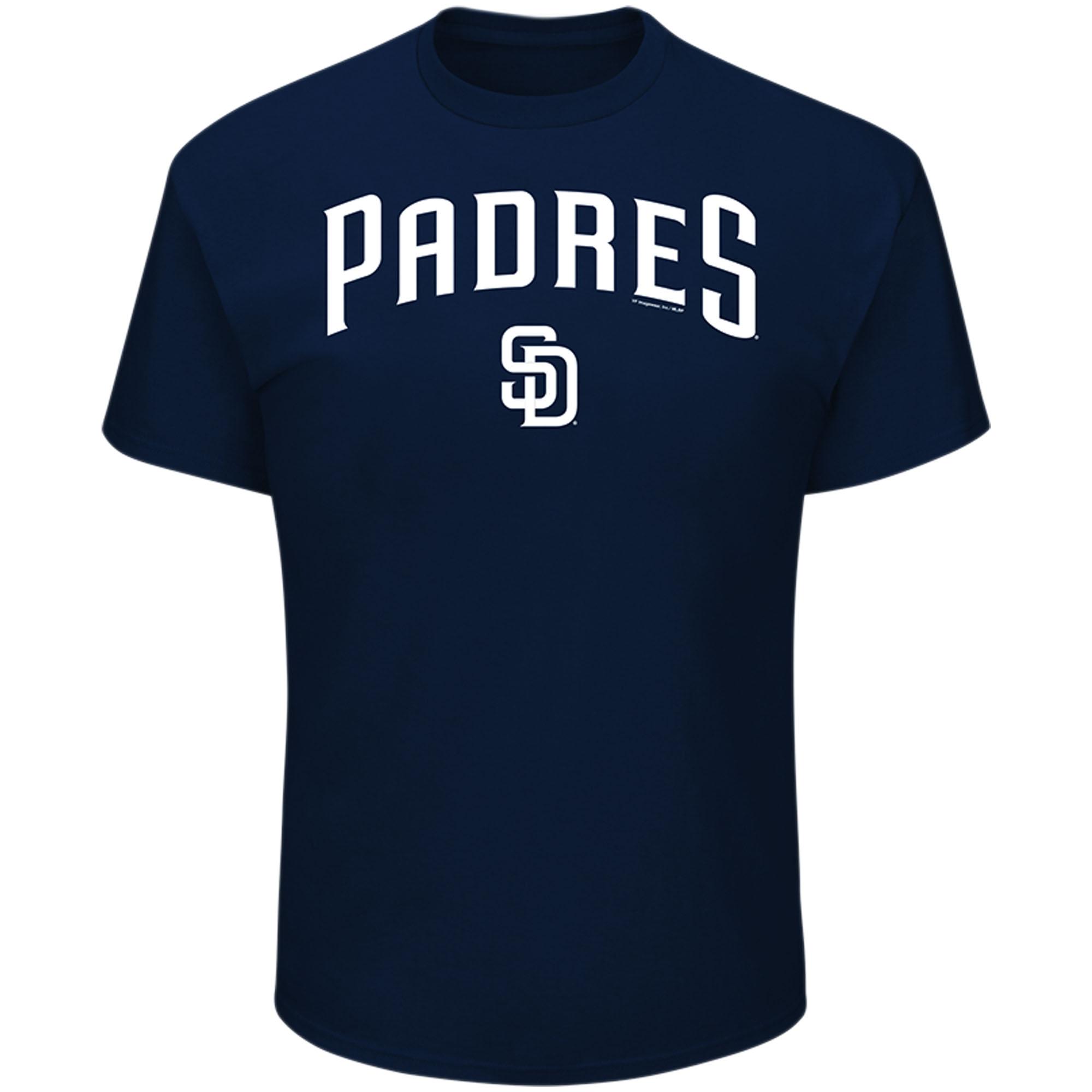 Men's Majestic Navy San Diego Padres Bigger Series Sweep T-Shirt