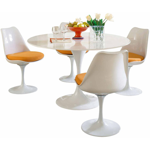 Modway Lippa 5-Piece Fiberglass Dining Set, Multiple Colors