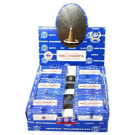 Satya Sai Baba Temple Incense Cones Carton, 12 Box..., By Nag Champa Ship from (Mystic Temple Incense)