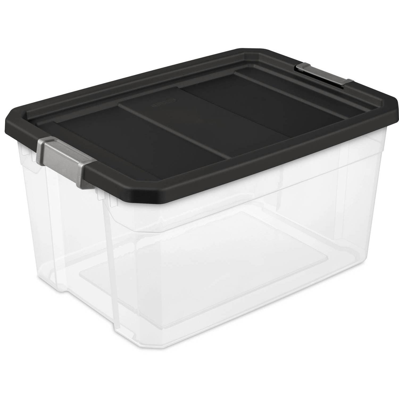 Sterilite 19 Gallon Stacker Box- Black (Available in Case of 6 or Single Unit)