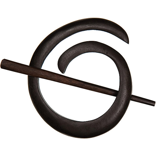 Spiral Shawl Pin-Ebony
