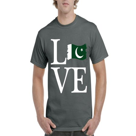 Pakistani Clothes - Love Pakistan Men Shirts T-Shirt Tee