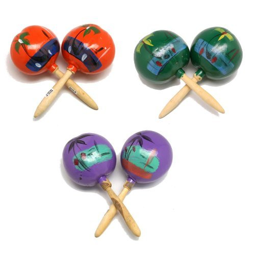 "Authentic Style 8"" Maracas (2 Pack) Wooded. by FUN EXPRESS"