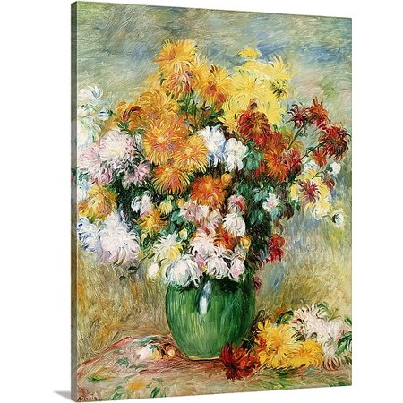 Great BIG Canvas Pierre Auguste (1841-1919) Renoir Premium Thick-Wrap Canvas entitled Bouquet of Chrysanthemums, c.1884