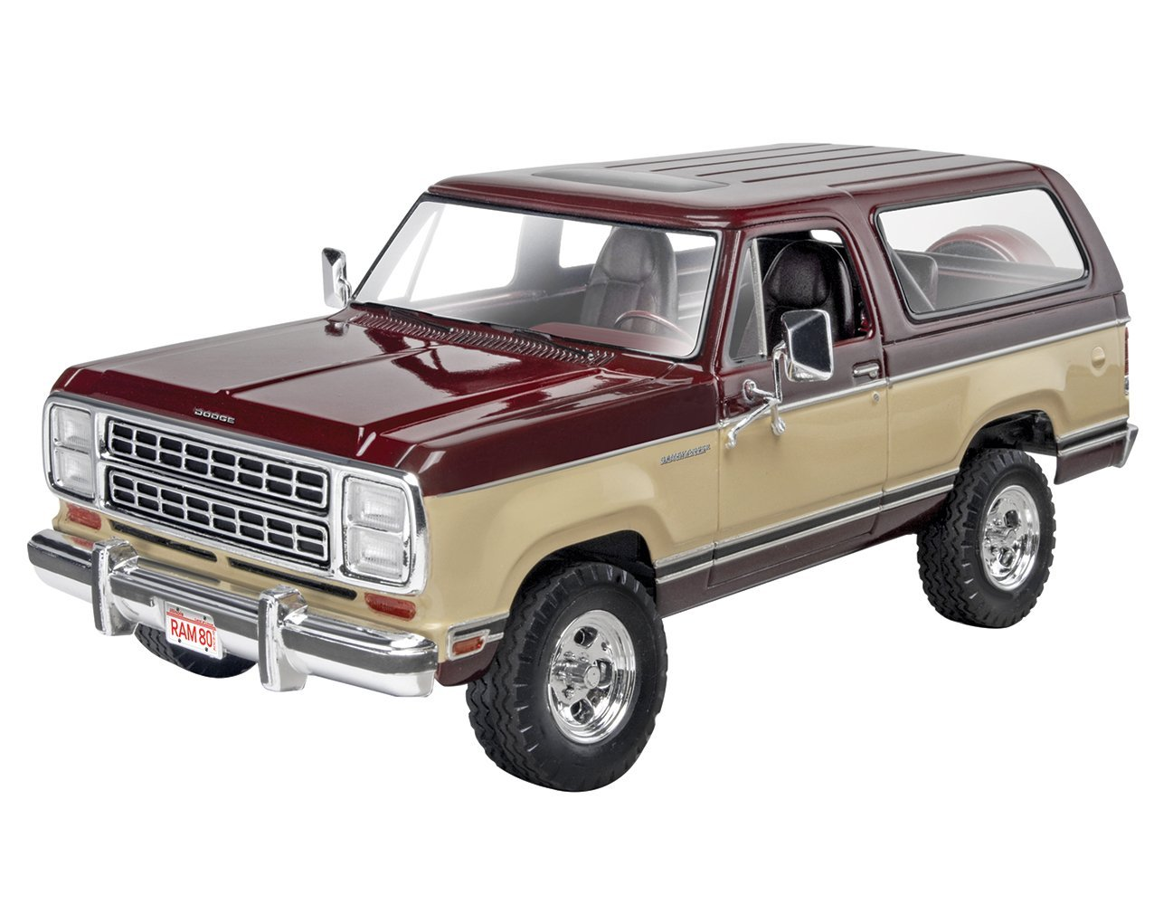 '80 Dodge Ramcharger Plastic Model Kit, Challenge yourself by assembling your own... by