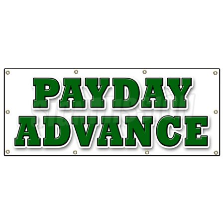 36 X96  Payday Advance Banner Sign Quick Ez Easy Credit Loans Fast Money Loan