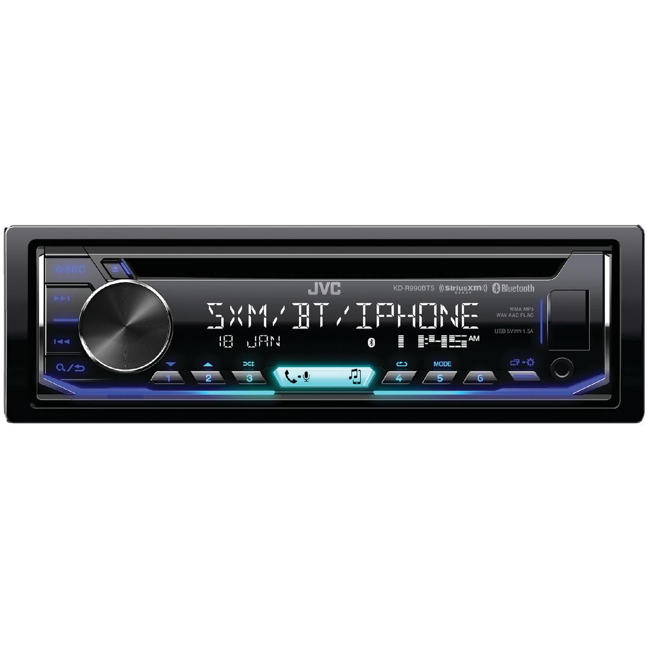 JVC Mobile KD-R990BTS KD-R990BTS Single-DIN In-Dash AM/FM CD Receiver with Bluetooth & SiriusXM Ready