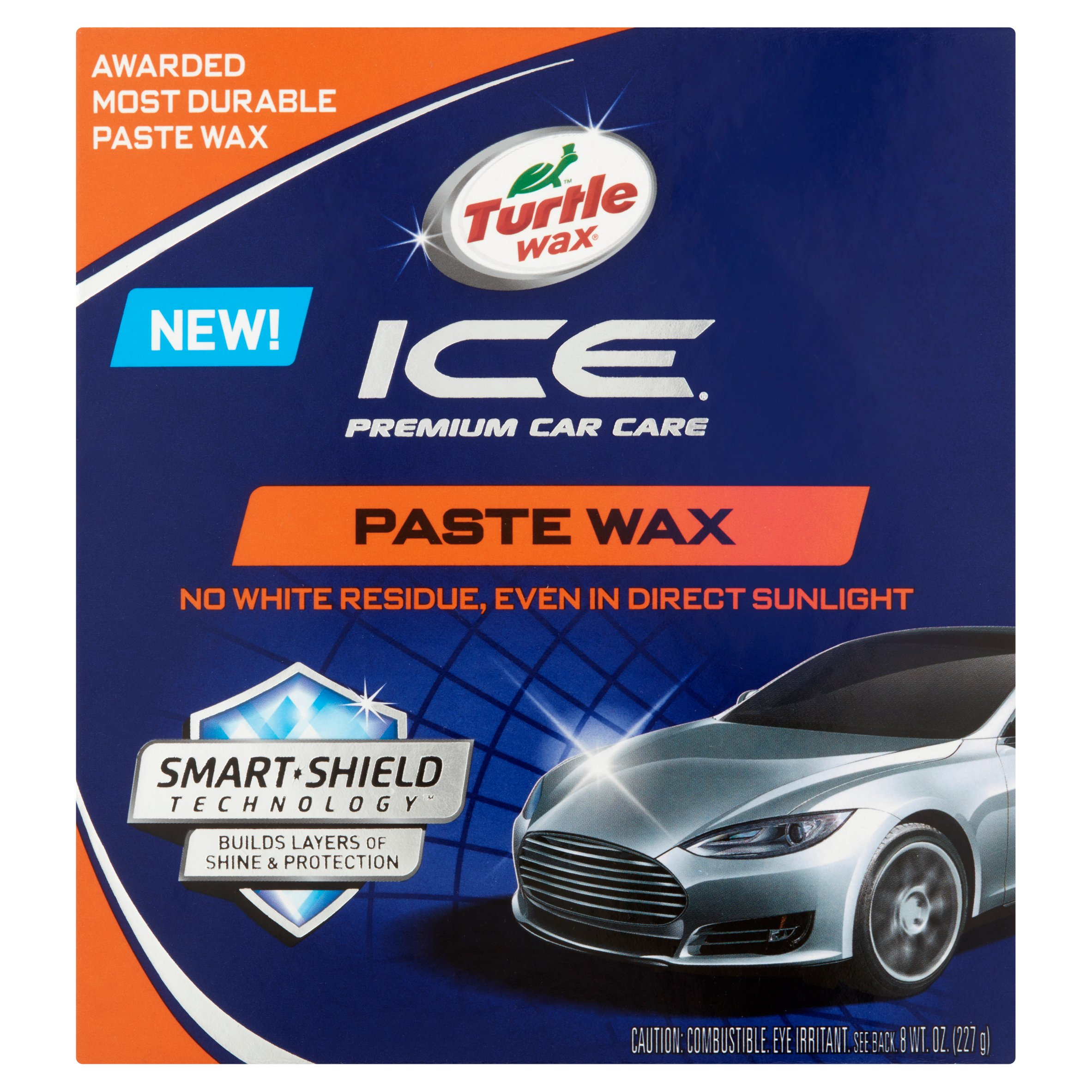 Turtle Wax Ice Premium Car Care Paste Wax, 8 oz