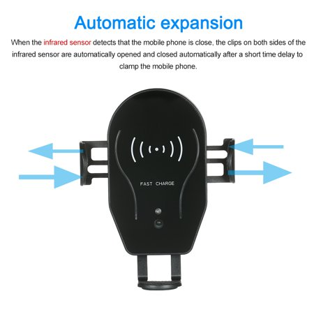 Wireless Car Automatic Induction Car Phone Mount Air Vent Phone Holder  Cradle Charging for 8/8 Plus/X Galaxy Note 8/S8/S8+/S7/S6 Edge+ Wireless