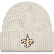 New Orleans Saints New Era Youth Core Classic Stone Knit Cuffed Hat - Cream - OSFA