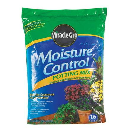 Miracle Gro Moisture Control Potting Mix Bagged 16 Qt