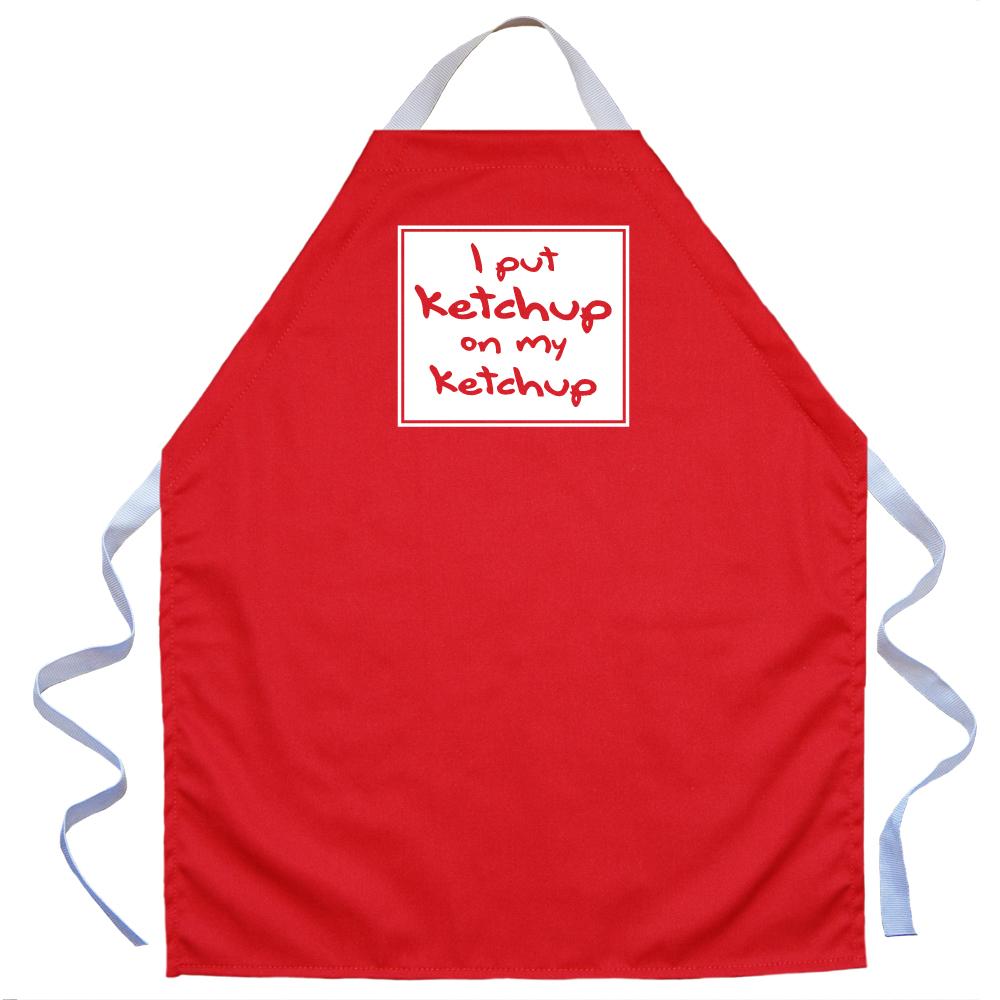 LA Imprints Aprons For Kids Boys Girls  - I Put Ketchup On My Ketchup